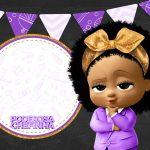 Convite Chalkboard Poderosa Chefinha Afro 4