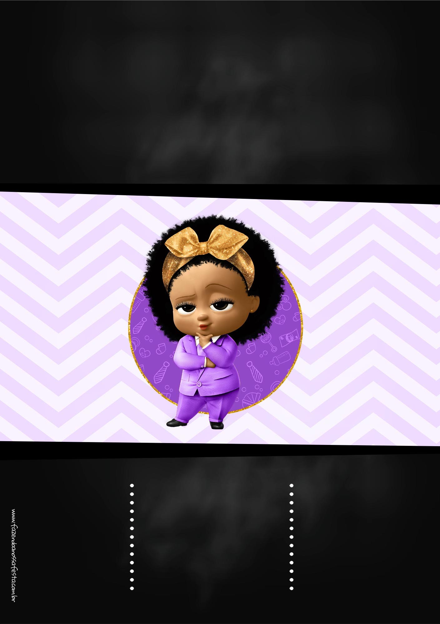 Convite Chalkboard Poderosa Chefinha Afro