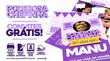 Convite Festa Poderosa Chefinha Afro