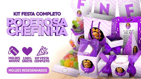 Kit Festa Poderosa Chefinha Afro Gratis