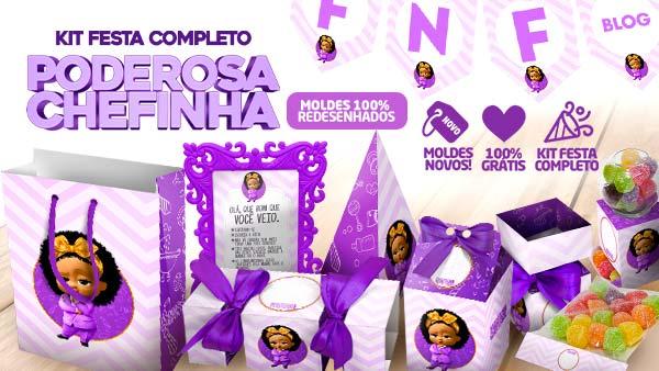 Kit Festa Poderosa Chefinha para Imprimir