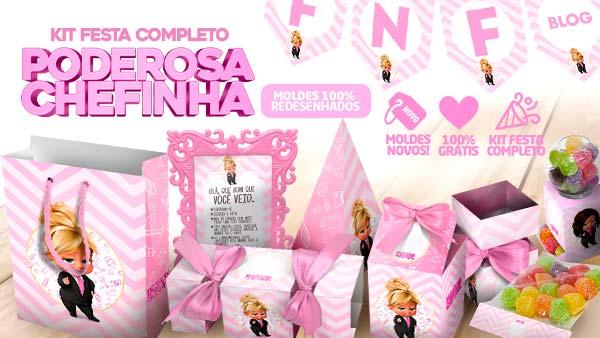 Kit festa Poderosa Chefinha Loira gratis