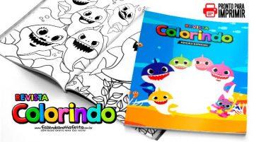 Livrinho para Colorir Baby Shark para imprimir
