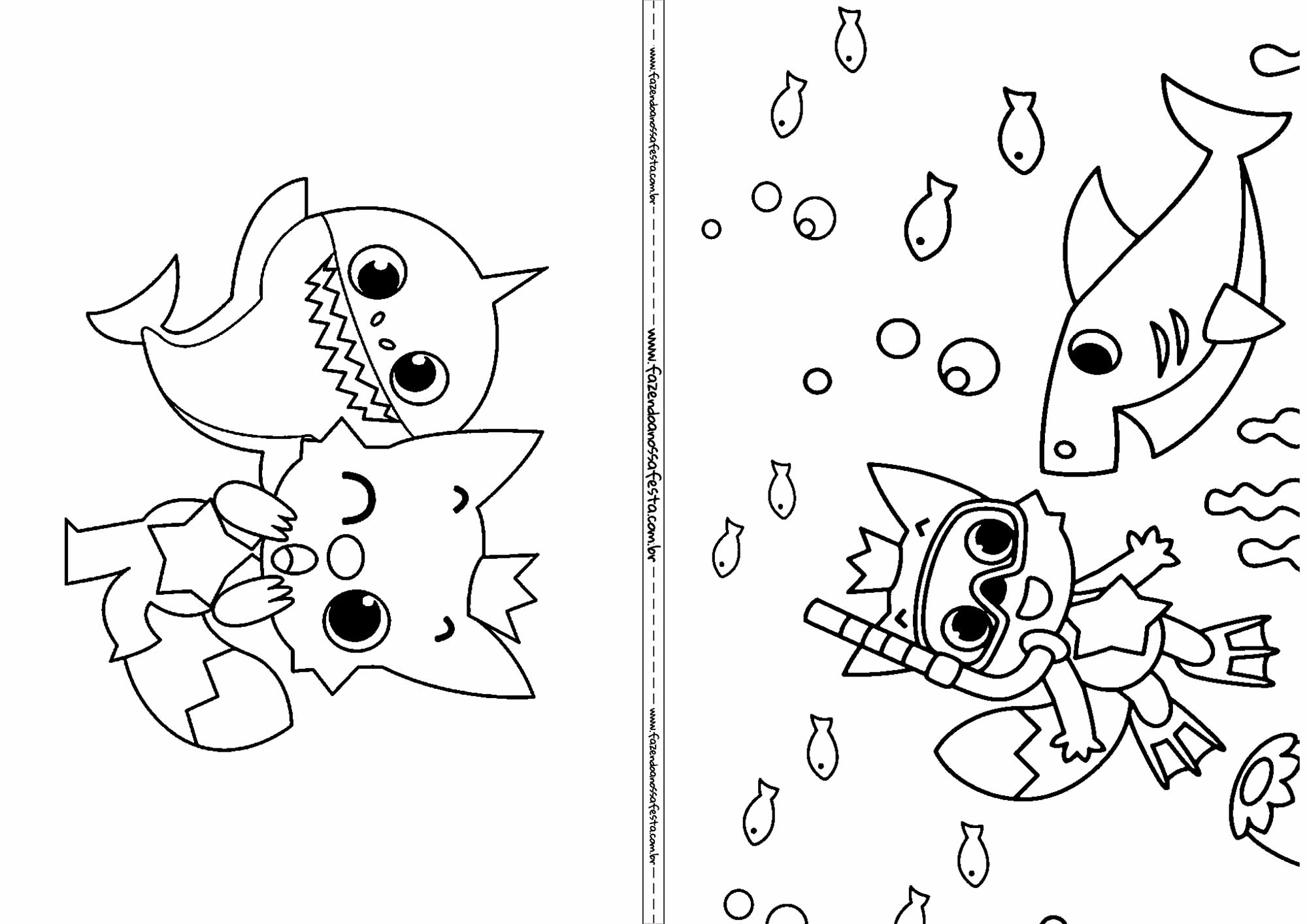 Revista para colorir Baby Shark 2
