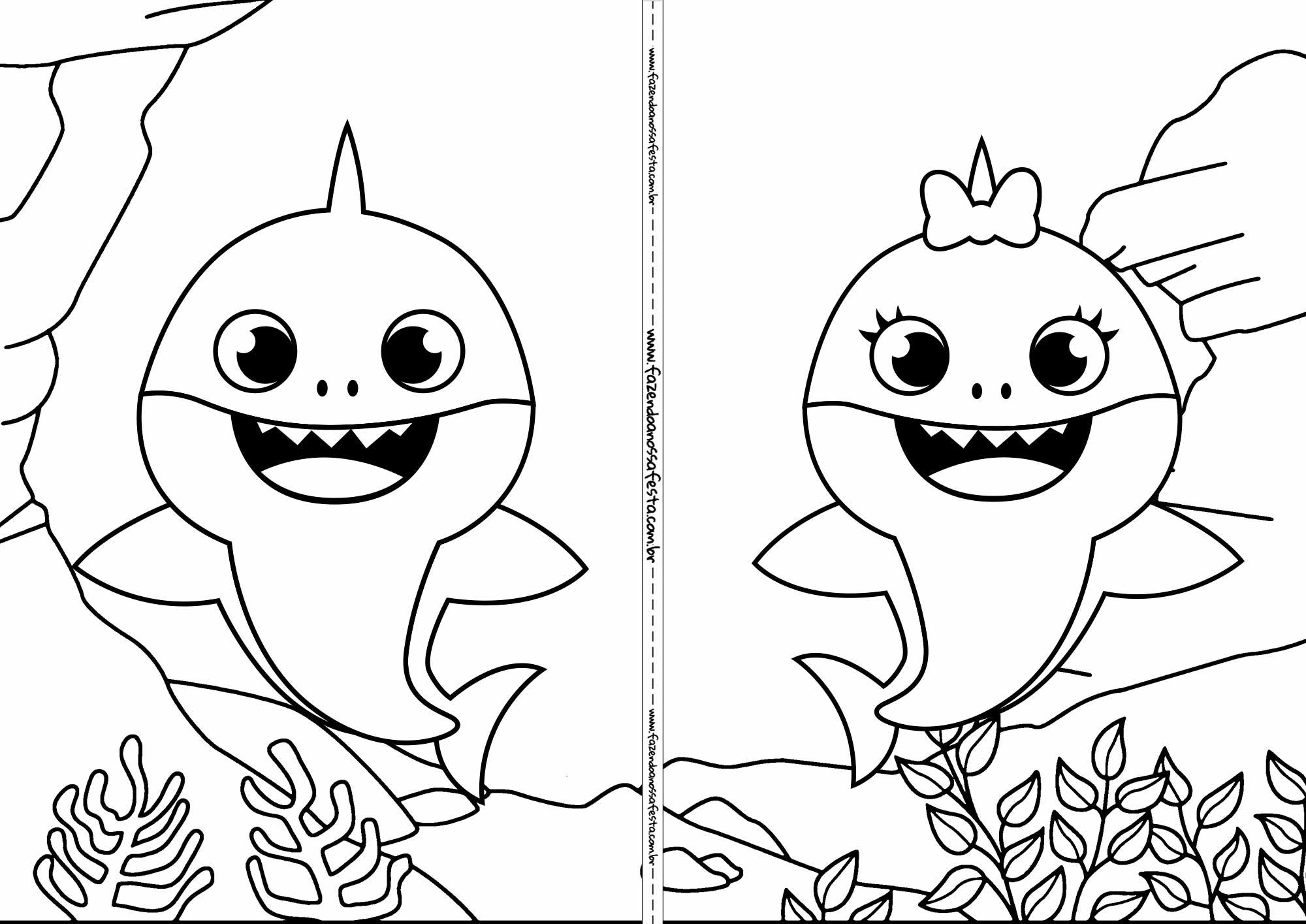 Livrinho para colorir Baby Shark 4