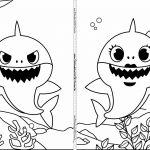 Livrinho para colorir Baby Shark 5