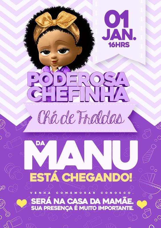 Modelo Poderosa Chefinha Afro Convite 1