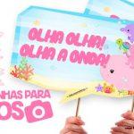 Plaquinha Festa Fundo do Mar Rosa para Imprimir