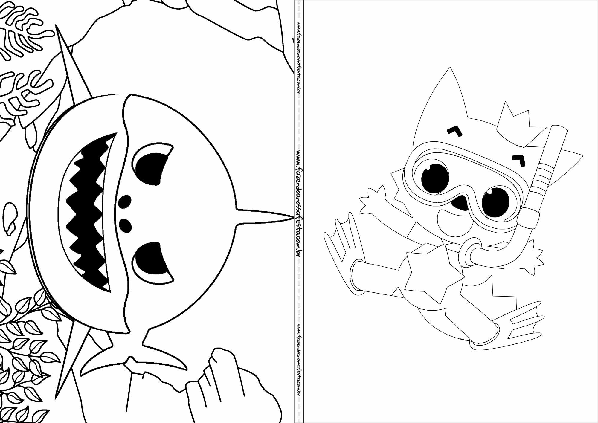 Revista de colorir Baby Shark 7