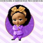 Saia Lateral de Bolo Kit Festa Poderosa Chefinha Afro
