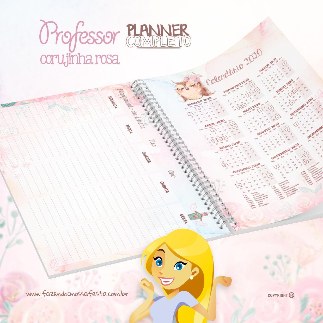 caderno plano de aula educacao infantil corujinha