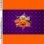 Adesivo Bala Personalizada Kit Festa Halloween