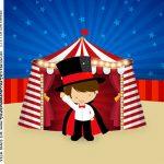 Adesivo Caixa Acrilica Kit Festa Circo Menino