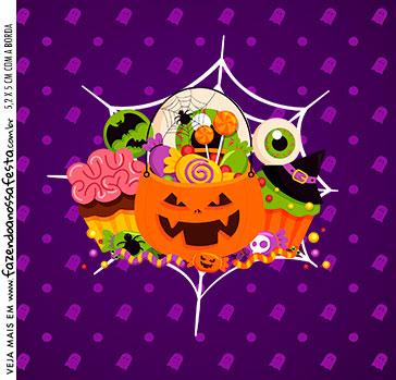 Adesivo Caixa Acrilica Kit Festa Halloween