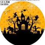 Adesivo copo de acrilico Kit Festa Halloween