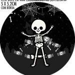 Adesivo para garrafinha Halloween