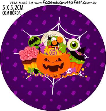 Adesivo redondo Halloween