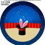 Adesivo redondo personalizado Circo Menino