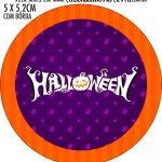 Adesivo redondo personalizado Halloween