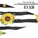 Bandeirinha Sanduiche para imprimir Girassol