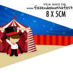 Bandeirinha Sanduiche para imprimir Kit Festa Circo Menino