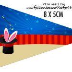 Bandeirinha Sanduiche personalizado Circo Menino