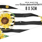 Bandeirinha Sanduiche personalizado Girassol