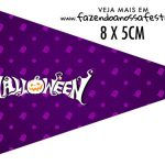 Bandeirinha Sanduiche personalizado Halloween