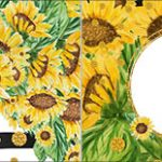 Bandeirinha de Dois Lados Girassol
