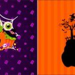 Bandeirinha de Dois Lados Halloween