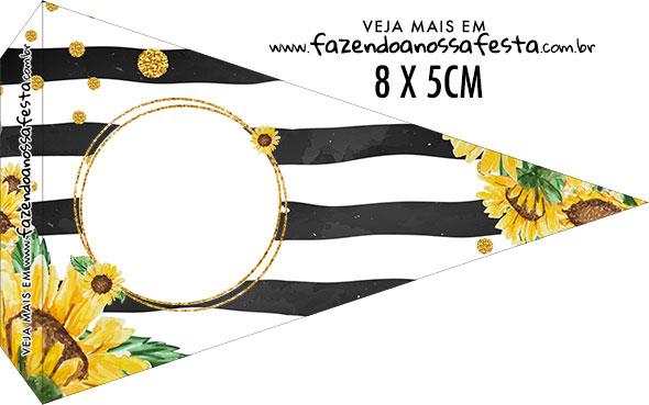 Bandeirinha sanduiche Girassol