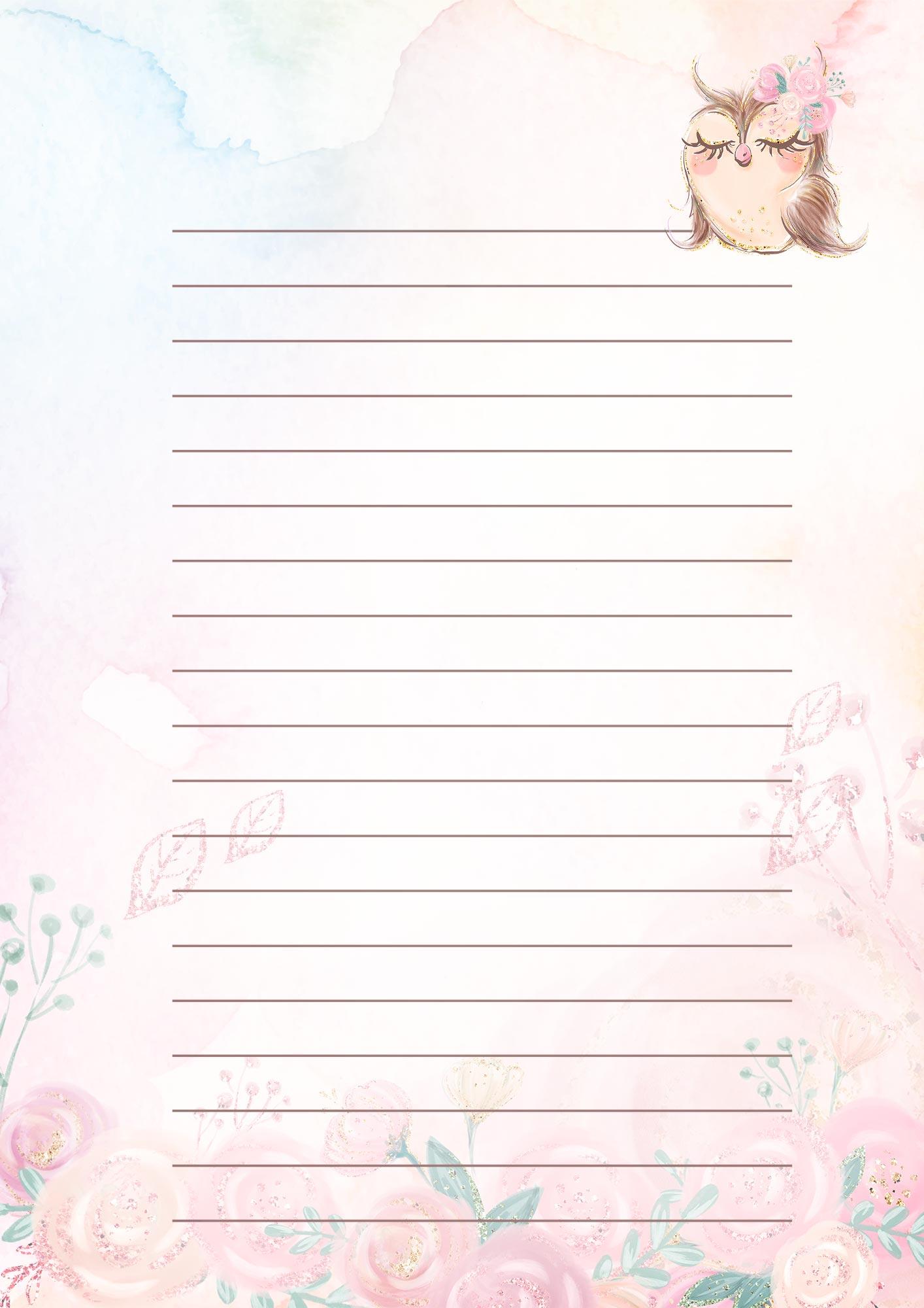Caderno de Planejamento Educacao Infantil Corujinha Modelo em Branco