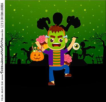 Caixa Acrilico 5x5 Halloween