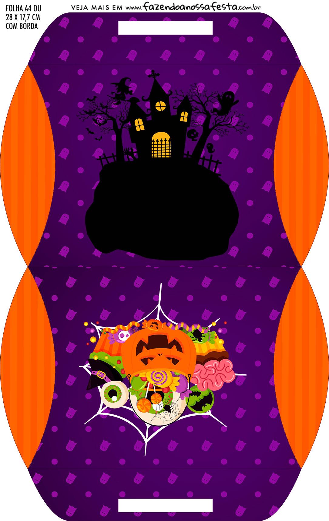 Caixa Almofada bolsinha Kit Festa Halloween