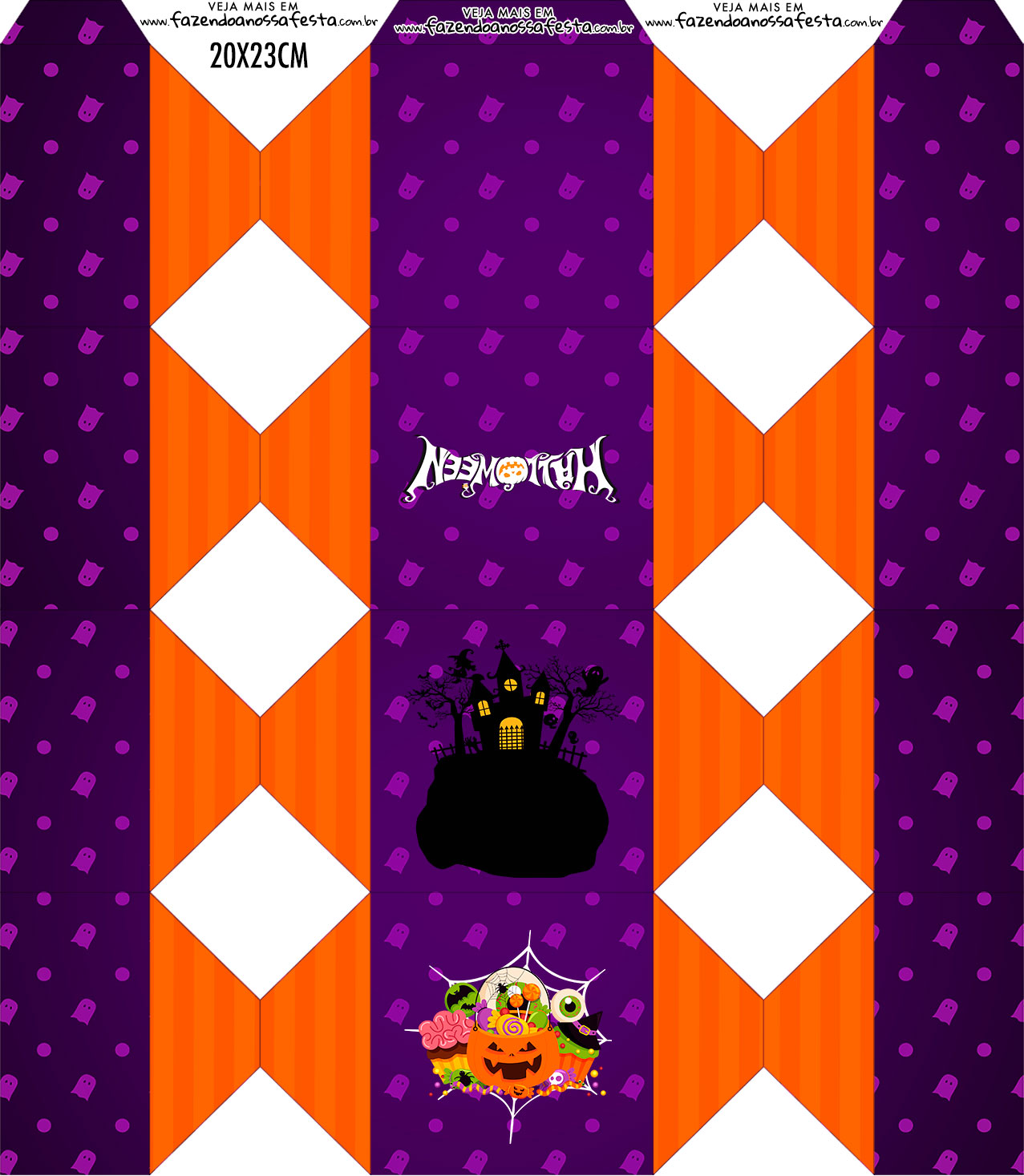 Caixa Bala Kit Festa Halloween