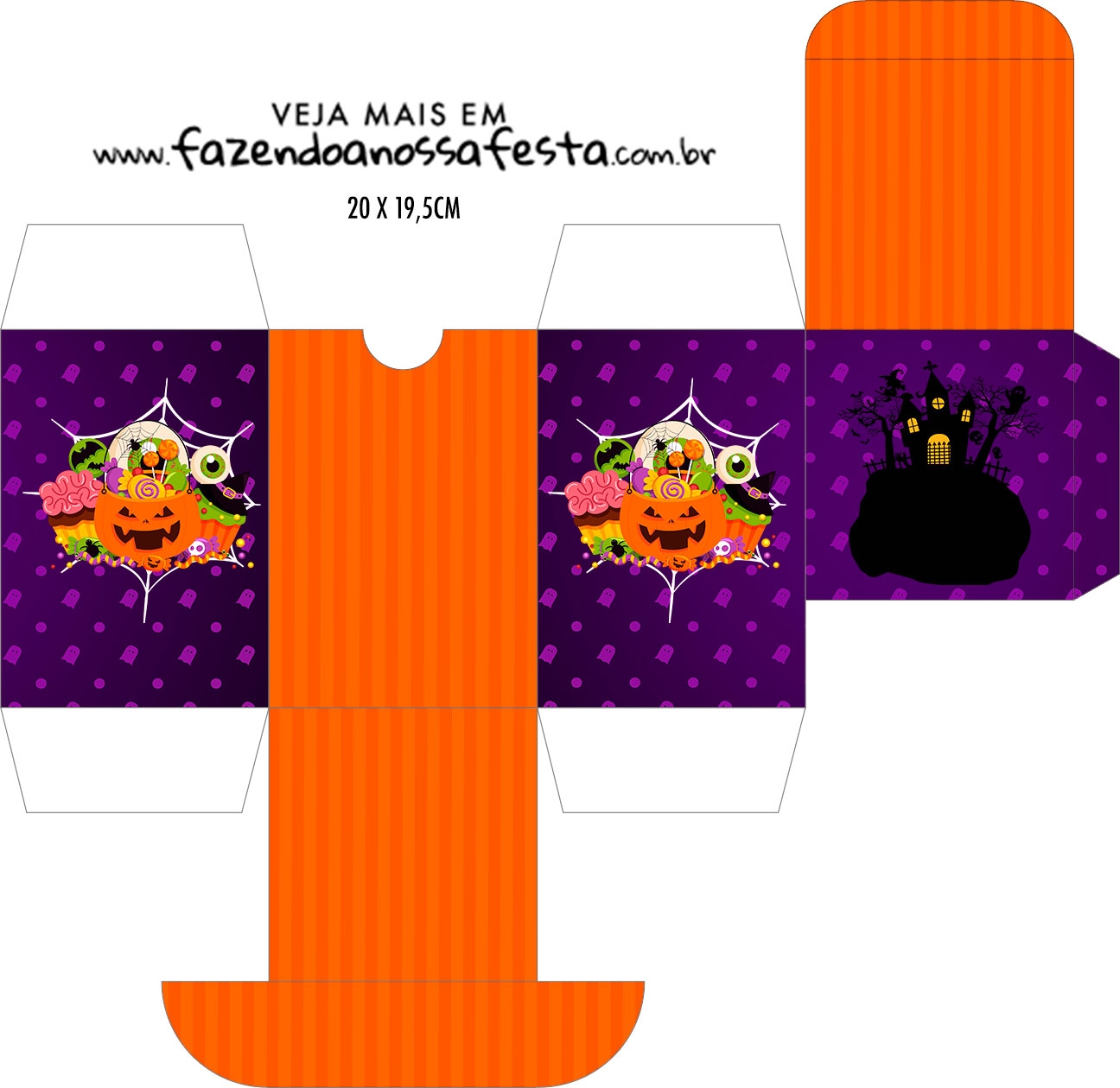 Caixa Baleiro Kit Festa Halloween