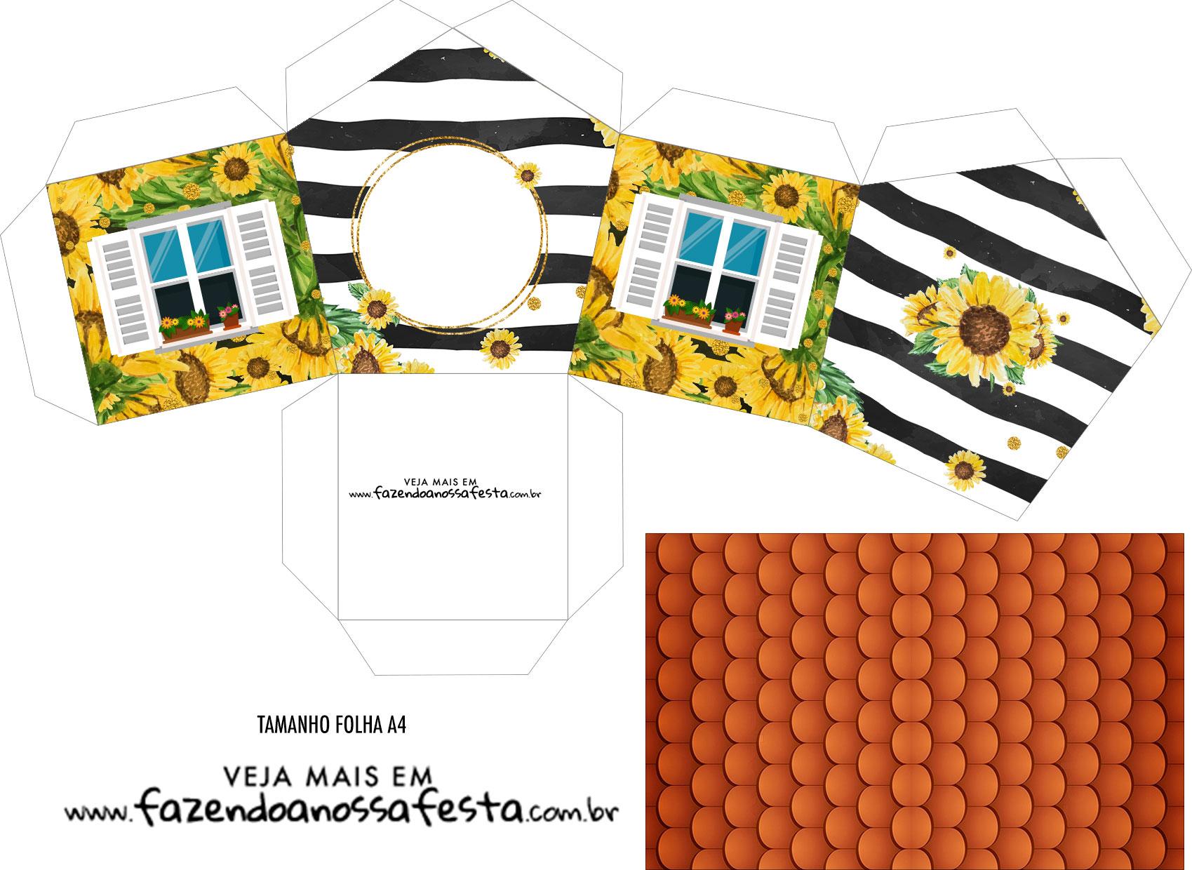 Caixa Casinha Girassol