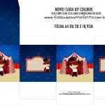 Caixa Kit Colorir Circo Menino