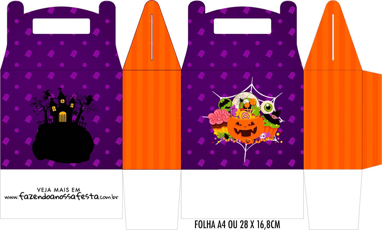 Caixa Maleta Surpresa Halloween