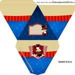 Caixa Piramide Personalizada Circo Menino