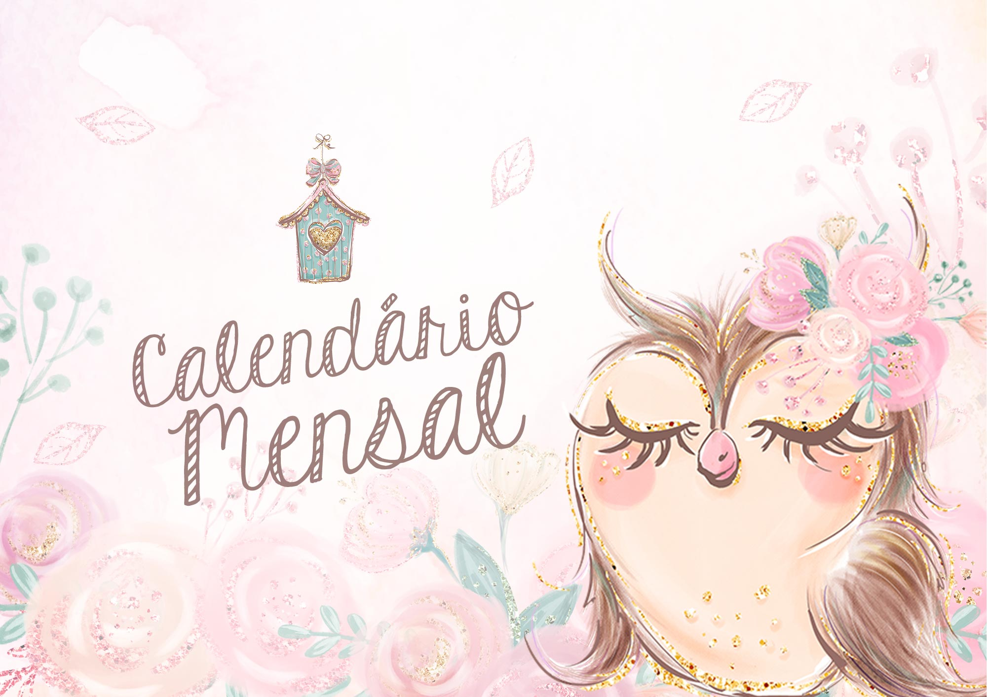 Calendario Mensal Corujinha 2020
