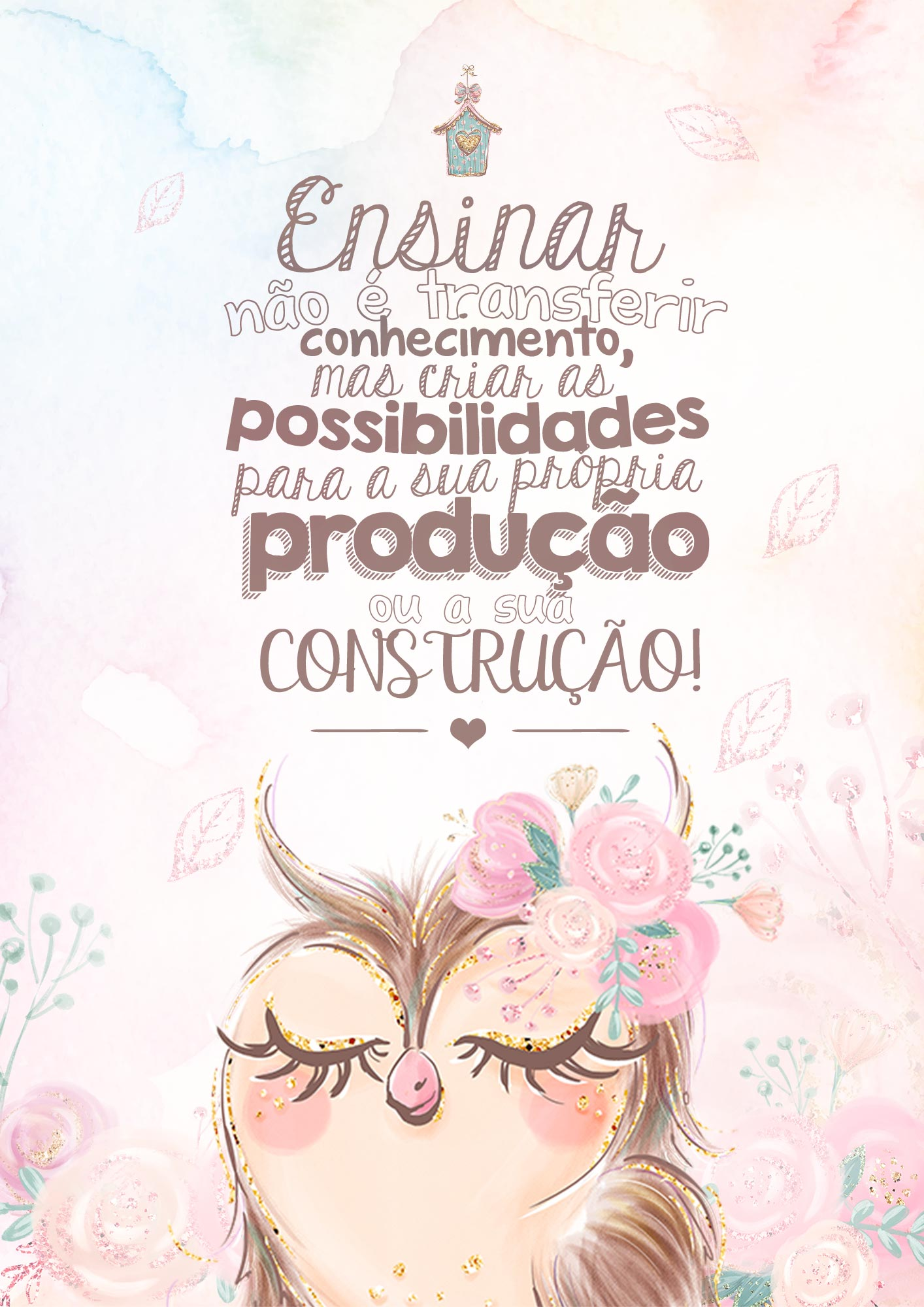 Capa Caderno Planejamento 2020 Corujinha Rosa Fazendo A Nossa Festa