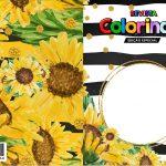 Capa Livrinho para Colorir Girassol