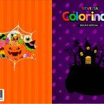 Capa Livrinho para Colorir Halloween