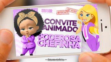 Convite Animado Poderosa Chefinha Afro Gratis