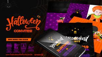 Convite Halloween para imprimir