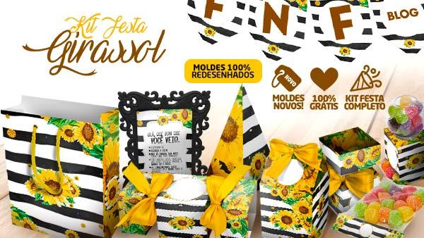 Kit Festa Girassol Gratis