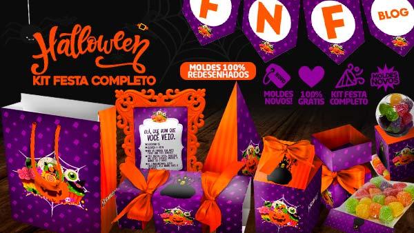Kit Festa Halloween para imprimir