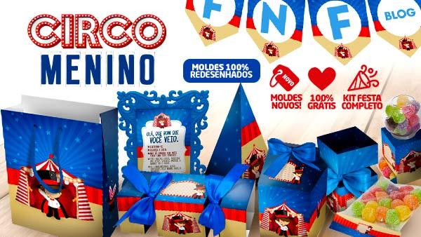 Kit festa Circo para imprimir gratis