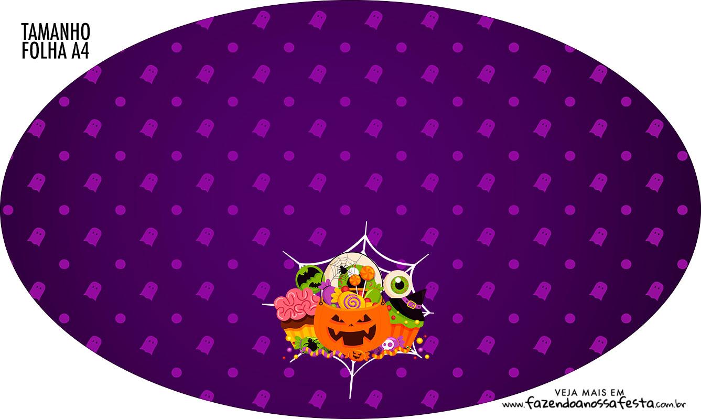Placa Elipse Halloween